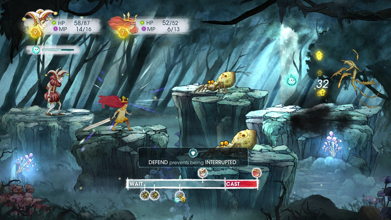 Child of Light battle.png